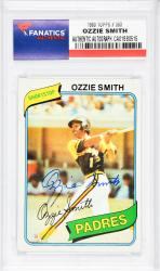Ozzie Smith San Diego Padres Autographed 1980 Topps #393 Card  - Mounted Memories  - Mounted Memories