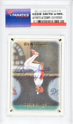 Ozzie Smith St. Louis Cardinals Autographed 2007 Upper Deck Masterpiece #19 Card with 1982 W.S. Champ Inscription - Mounted Memories  - Mounted Memories