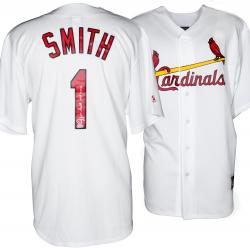 Ozzie Smith St. Louis Cardinals Autographed White Jersey with HOF 2002 Inscription