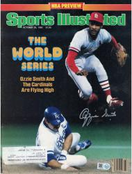 Ozzie Smith St. Louis Cardinals Autographed 10/28/85 Sports Illustrated Magazine