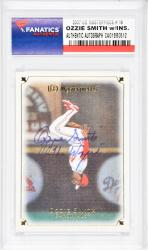 Ozzie Smith St. Louis Cardinals Autographed 2007 Upper Deck Masterpiece #19 Card with The Wizard Inscription - Mounted Memories  - Mounted Memories