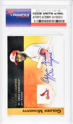 Ozzie Smith St. Louis Cardinals Autographed 2012 Topps G.M. #GM-32 Card with The Wizard Inscription - Mounted Memories  - Mounted Memories