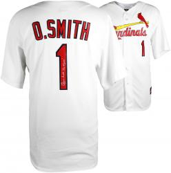 Ozzie Smith St. Louis Cardinals Autographed Jersey with Wizard Inscription