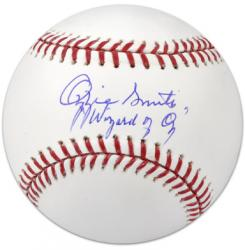 """Ozzie Smith Autographed Baseball with """"Wizard of Oz"""" Inscription"""