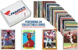Ozzie Smith-St. Louis Cardinals- Collectible Lot of 20 MLB Trading Cards - Mounted Memories