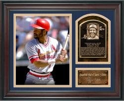 "Ozzie Smith Baseball Hall of Fame Framed 15"" x 17"" Collage with Facsimile Signature"