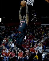 "Russ Smith Louisville Cardinals Autographed 16"" x 20"" Dunk Photograph"
