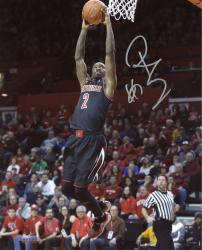 "Russ Smith Louisville Cardinals Autographed 8"" x 10"" Dunk Photograph"