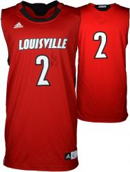 Russ Smith Louisville Cardinals Autographed Replica Red Jersey - Mounted Memories