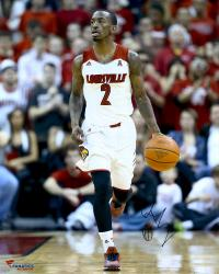"Russ Smith Louisville Cardinals Autographed 16"" x 20"" White Uniform Dribble Photograph"