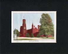 1909 Smithsonian Institution Washington DC Original Engraving Book Photo Display