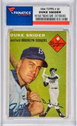 SNIDER, DUKE (1954 TOPPS # 32) CARD - Mounted Memories