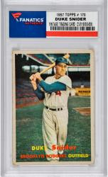 SNIDER, DUKE (1957 TOPPS # 170) CARD - Mounted Memories