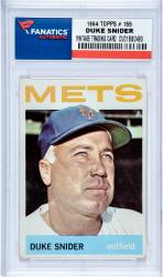 SNIDER, DUKE (1964 POST # 155) CARD - Mounted Memories