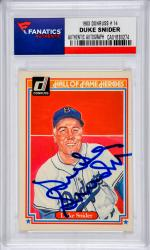 Duke Snider Los Angeles Dodgers Autographed 1983 Donruss #14 Card - Mounted Memories