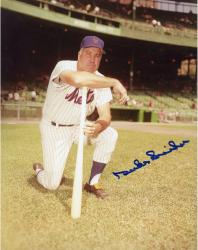 Duke Snider Mets Autographed 8x10 Photo