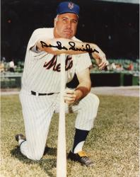 SNIDER, DUKE AUTO (METS/ON ONE KNEE/CLOSE UP) 8X10 PHOTO - Mounted Memories