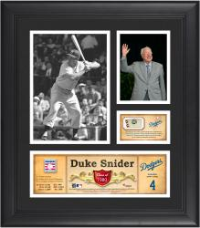 "Duke Snider Los Angeles Dodgers Framed 15"" x 17"" HOF Collage with Piece of Game-Used Ball"