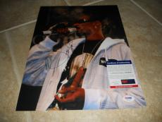 Snoop Dog Hip Hop Rap Signed Autographed 11x14 Live Music Photo PSA Certified
