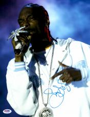 """Snoop Dogg Autographed 11"""" x 14"""" Singing in Concert Photograph - PSA/DNA COA"""