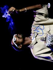 "Snoop Dogg Autographed 11"" x 14"" Smoking On Stage Photograph - PSA/DNA COA"