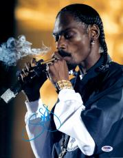 "Snoop Dogg Autographed 11"" x 14"" Smoking Photograph - PSA/DNA"