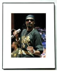 Snoop Dogg Autographed Signed Mic in Hand Photo & Proof PSA AFTAL