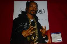 SNOOP DOGG lion rapper signed PSA/DNA 11X14 photo 2 COA
