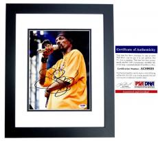 Snoop Dogg Signed - Autographed Rapper - Actor 8x10 inch Photo with PSA/DNA Authenticity BLACK CUSTOM FRAME - aka Calvin Broadus