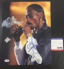 SNOOP DOGG SIGNED DOGGSTYLE 'SMOKING ON STAGE' 11x14 PHOTO PSA/DNA COA 1