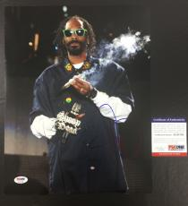 SNOOP DOGG SIGNED DOGGSTYLE 'SMOKING ON STAGE' 11x14 PHOTO PSA/DNA COA 2