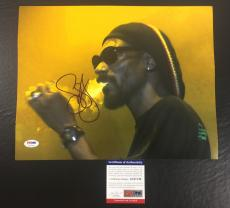SNOOP DOGG SIGNED DOGGSTYLE 'SMOKING ON STAGE' 11x14 PHOTO PSA/DNA COA 9