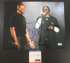 SNOOP DOGG SIGNED DOGGSTYLE 'WITH DR. DRE' 11x14 PHOTO PSA/DNA COA 1