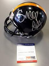 Snoop Dogg Signed Pittsburgh Steelers Mini Helmet Gin And Juice Psa Coa Ac73418