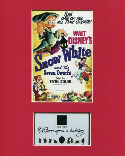 Snow White and the Seven Dwarfs 80th Disney Saks Fifth Avenue Gift Card Display