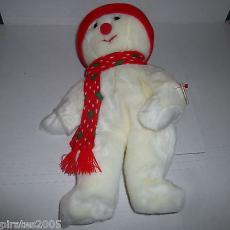 Snowboy The Snowman Ty Beanie Buddy Baby Plush Stuffed Animal