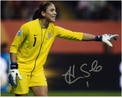 "Hope Solo U.S. Soccer Team Autographed 8"" x 10"" Horizontal Photograph"