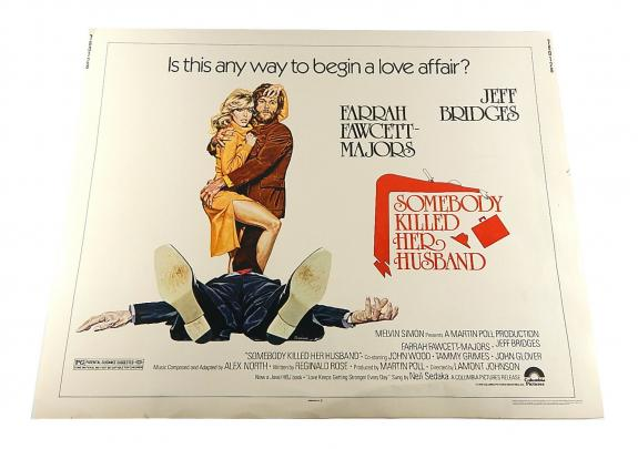 Somebody Killed Her Husband Half Sheet Movie Poster 28x22 Fawcett Jeff Bridges