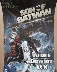 Son of Batman cast auto movie poster Jason O'Mara Xander Berkeley Sean Maher +5