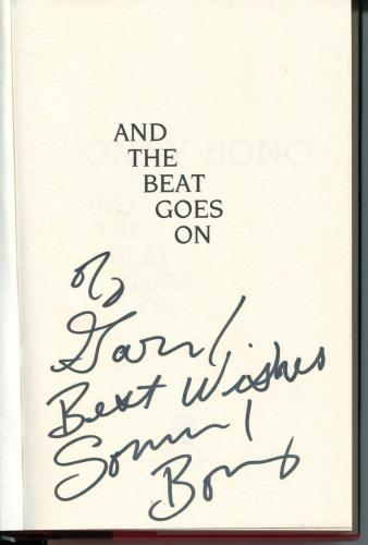 Sonny Bono Of Sonny & Cher / Mayor Of Palm Springs Signed Book Autograph