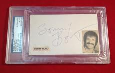 Sonny Bono Signed Index Card  Slabbed PSA/DNA #83108038