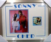 Sonny & Cher Music Legends Jsa Loa Dual Signed Auto Photo Double Matted & Framed