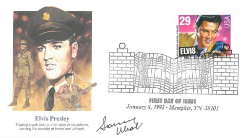 Sonny West Signed Authentic Autographed Elvis Presley FDC PSA/DNA #AD14873