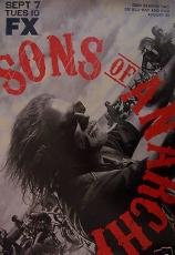 Sons of Anarchy 2010 San Diego Comic-Con SDCC FOX mini 12x18 inch promo poster