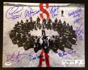 SONS OF ANARCHY SOA Cast Signed 11x14 Photo Katey Sagal Coates +7 PSA/DNA COA #2