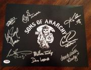 SONS OF ANARCHY SOA Cast Signed 11x14 Photo Katey Sagal Coates +7 PSA/DNA COA #3