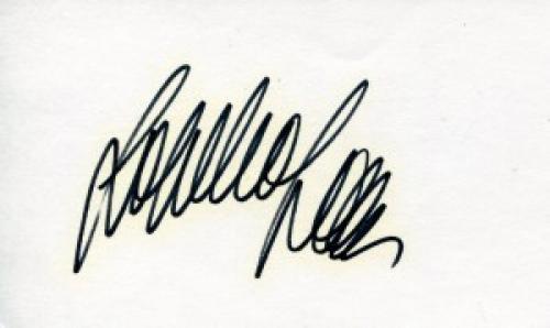 Sophia Loren Autographed 3x5 Index Card (JSA)