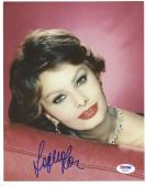 "Sophia Loren Autographed 8""x 10"" Posing on Couch Photograph - PSA/DNA COA"