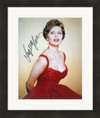 Sophia Loren autographed 8x10 photo (Italian Film Actress) #1 Matted & Framed