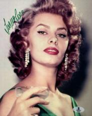 Sophia Loren Bas Beckett Authentication Certed Hand Signed 8x10 Photo Autograph